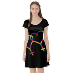 Love is love Short Sleeve Skater Dress