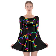 Love is love Long Sleeve Skater Dress