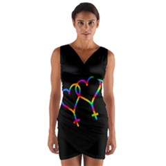 Love is love Wrap Front Bodycon Dress