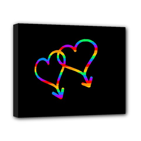 Love is love Canvas 10  x 8