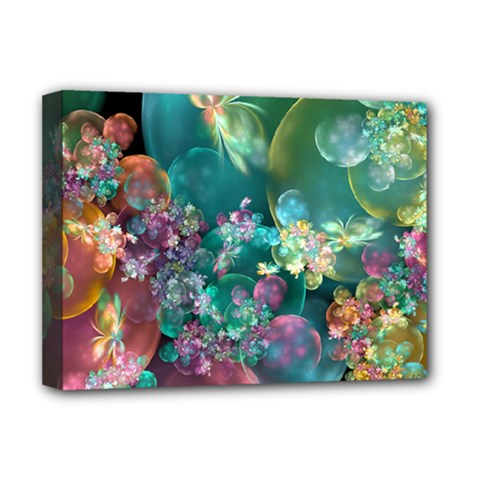 Butterflies, Bubbles, And Flowers Deluxe Canvas 16  x 12