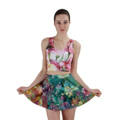 Butterflies, Bubbles, And Flowers Mini Skirt