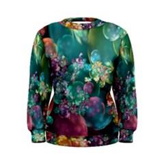 Butterflies, Bubbles, And Flowers Women s Sweatshirt