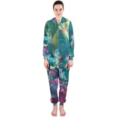 Butterflies, Bubbles, And Flowers Hooded Jumpsuit (Ladies)