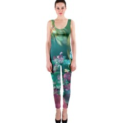 Butterflies, Bubbles, And Flowers OnePiece Catsuit