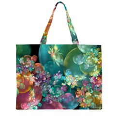 Butterflies, Bubbles, And Flowers Large Tote Bag