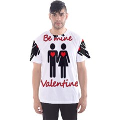 Be mine Valentine Men s Sport Mesh Tee