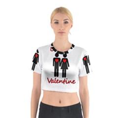 Be mine Valentine Cotton Crop Top
