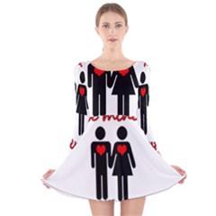Be mine Valentine Long Sleeve Velvet Skater Dress