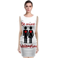 Be mine Valentine Classic Sleeveless Midi Dress