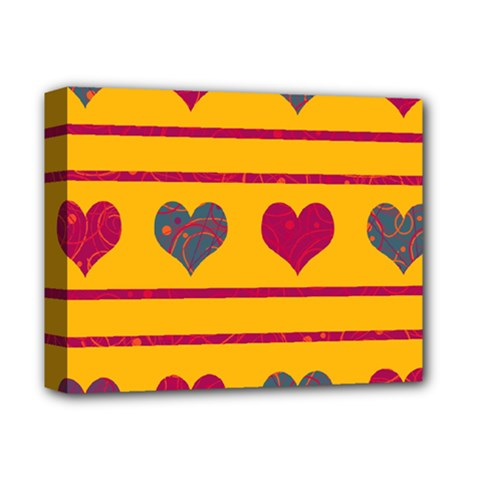 Decorative harts pattern Deluxe Canvas 14  x 11