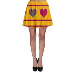 Decorative harts pattern Skater Skirt