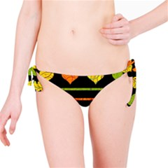 Colorful harts pattern Bikini Bottom