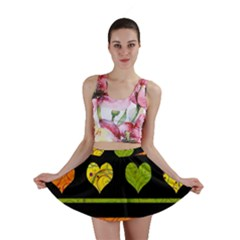 Colorful harts pattern Mini Skirt