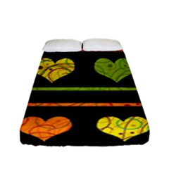 Colorful Harts Pattern Fitted Sheet (full/ Double Size)