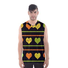 Colorful harts pattern Men s Basketball Tank Top