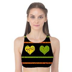 Colorful harts pattern Tank Bikini Top