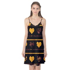 Yellow harts pattern Camis Nightgown