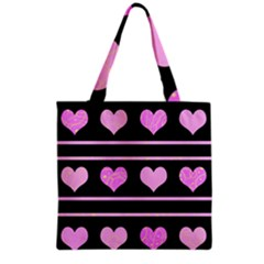 Pink harts pattern Grocery Tote Bag