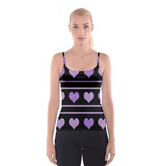 Purple harts pattern Spaghetti Strap Top