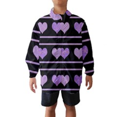 Purple harts pattern Wind Breaker (Kids)