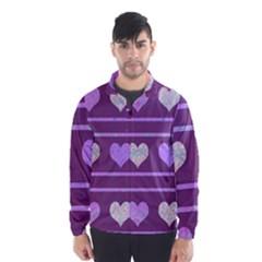 Purple harts pattern 2 Wind Breaker (Men)