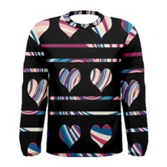 Colorful harts pattern Men s Long Sleeve Tee