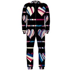 Colorful harts pattern OnePiece Jumpsuit (Men)