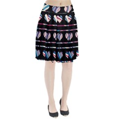 Colorful harts pattern Pleated Skirt