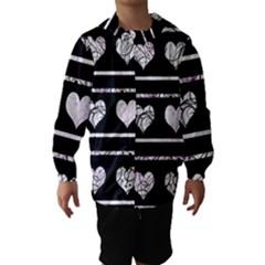 Elegant harts pattern Hooded Wind Breaker (Kids)