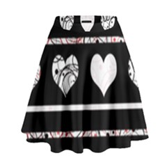 Elegant harts pattern High Waist Skirt