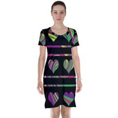 Colorful harts pattern Short Sleeve Nightdress