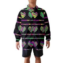 Colorful harts pattern Wind Breaker (Kids)