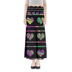Colorful harts pattern Maxi Skirts