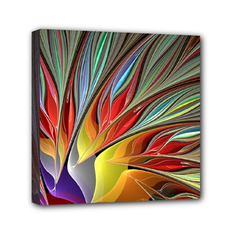 Fractal Bird of Paradise Mini Canvas 6  x 6  (Stretched)
