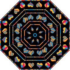 Colorful harts pattern Hook Handle Umbrellas (Medium)