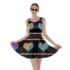 Colorful harts pattern Skater Dress