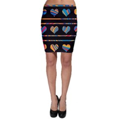 Colorful harts pattern Bodycon Skirt