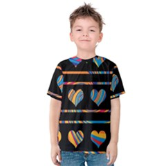 Colorful harts pattern Kids  Cotton Tee