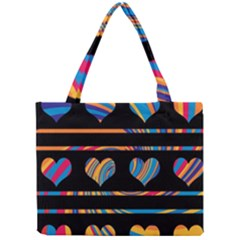Colorful harts pattern Mini Tote Bag