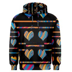 Colorful harts pattern Men s Pullover Hoodie