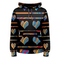 Colorful harts pattern Women s Pullover Hoodie