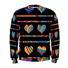 Colorful harts pattern Men s Sweatshirt