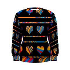 Colorful harts pattern Women s Sweatshirt