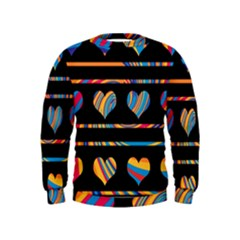 Colorful harts pattern Kids  Sweatshirt
