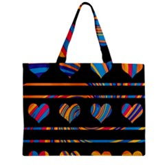 Colorful harts pattern Zipper Mini Tote Bag