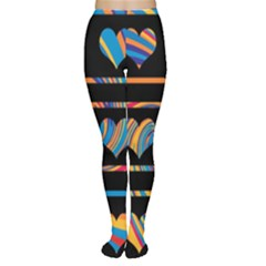 Colorful harts pattern Women s Tights