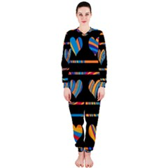 Colorful harts pattern OnePiece Jumpsuit (Ladies)