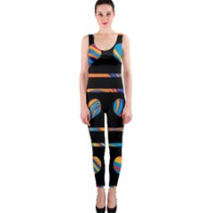Colorful harts pattern OnePiece Catsuit