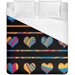 Colorful harts pattern Duvet Cover (California King Size)